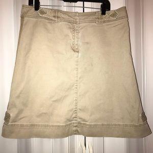 Nine & Co. Weekend Khaki Corduroy Skirt